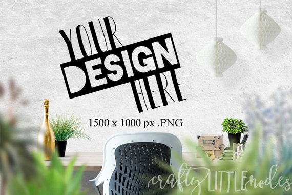 Mockup Blank Wall Template For Printables and Decals SVG Blank Commercial Use PNG Stylized Photo Photography Plants Stock Photo Desktop Desk