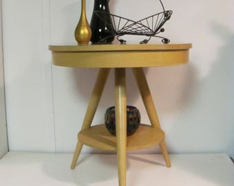 Fine Mid Century Modern Tripod Center Table By Mersman