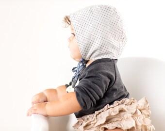 baby bonnet // baby sun bonnet // modern baby bonnet // baby sun hat // sun hat // sunbonnet