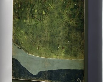 Canvas 24x36; Map Of Utah Beach, Normandy, France 1944 P2