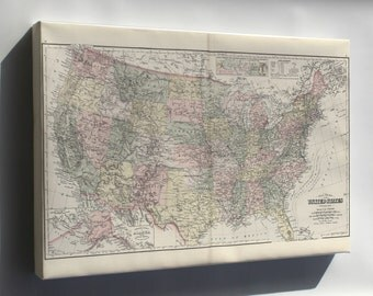 Canvas 24x36; Gray'S New Map Of The United States Of America 1893