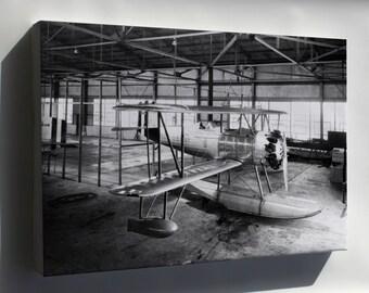 Canvas 24x36; Navy Vought O2U-1 Corsair Langley, Hampton, Virginia 1928
