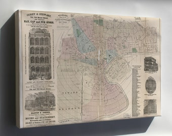 Canvas 24x36; Holbrook'S Map Of The City Of Newark, New Jersey 1875