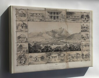 Canvas 24x36; No. 6. View Of Honolulu. From The Catholic Church. (C. 1854) #031215