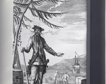 """Canvas 24x36; Blackbeard The Pirate""""Capt. Teach Alias Black-Beard Edward Teach"""