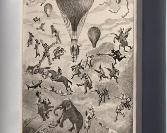 Canvas 24x36; Ad For Hot Air Balloon Manufacturer Henri Lachambre C1875