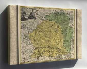 Canvas 16x24; Map Of Lithuania 1778 In Latin