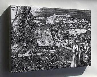 Canvas 16x24; The Cannon, Dürer'S Largest Etching, 1518