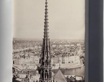 Canvas 16x24; Notre Dame, Paris, France 1859