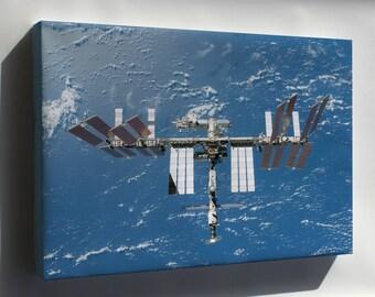Canvas 16x24; International Space Station P1