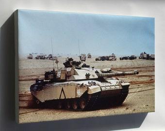 Canvas 16x24; Challenger Main Battle Tank  Operation Desert Storm British