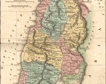 16x24 Poster; Map Of Israel Palestine Holy Land In Antiquity 1826