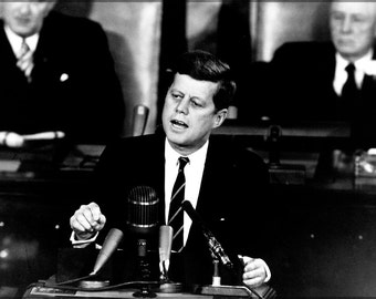 16x24 Poster; Decision To Go To The Moon President John F. Kennedy'S May 25, 1961