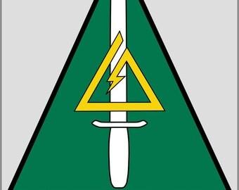 16x24 Poster; Delta Force 1St Special Forces Operational Detachment Delta Unit Patch  Delta Force