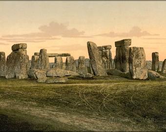 16x24 Poster; Stonehenge C1895 Photochrom
