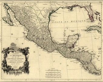 16x24 Poster; Map Of New Spain Mexico 1776