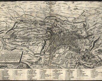 16x24 Poster; Map Of Rome, Italy, 1561