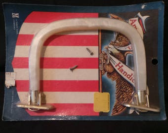 NIP Deadstock American Handicrafts Vintage White Lucite Purse Handle Supply