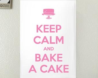 Keep Calm and Bake a Cake Refrigerator Magnet