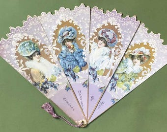 Victorian Fan Victorian Ladies in Hats Special Thoughts