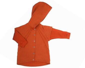 SALE! Kids summer jacket-kids jacket-kids sweatshirt-toddler sweatshirt-kids sweater-toddler hoodie-hooded sweatshirt-orange hoodie