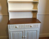 Oak welsh dresser refurbished in Wimboure White
