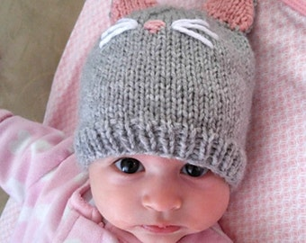 Baby, Child, Toddler Pussycat hat, Handmade, all colors available