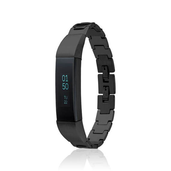 Bracelet SOSO - for Fitbit Alta - Alta HR - Jewelry - BLACK -  Stainless Steel