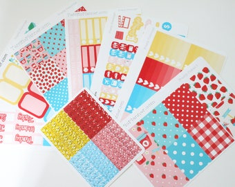 Freshly Picked Weekly Planner Sticker Kit and Washi Removable Matte  or Glossy Stickers