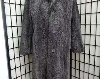 Refurbished new gray persian lamb astrakan fur coat for men man size all custom made