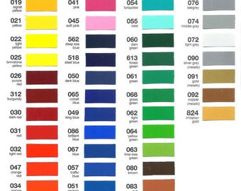 ORACAL 651 VINYL Bundle pack 1- 12x12 sheet of every color 63 total pieces