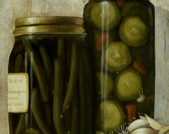 """Limited Edition Print by Corliss Blakely """" Dilly Beans"""""""