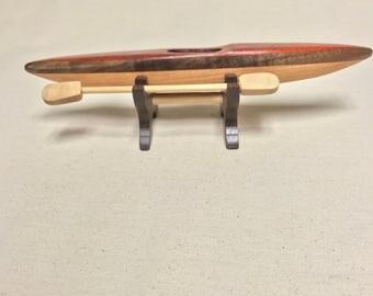 Padauk Kayak with stand