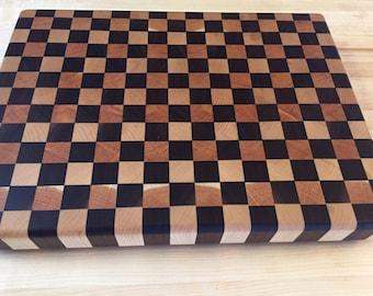 Maple, Walnut, and Cherry End Grain Cutting Board