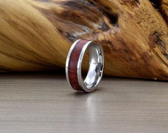 Cobalt and Bloodwood Wedding Ring - Mens Wedding Band -SE- Unique Wedding Ring - Mens Wedding Ring - Women's Wedding Ring - Wedding Band
