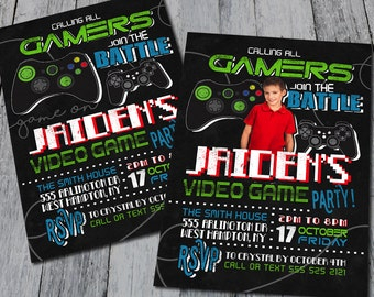 Calling All Gamers Party Invitations (Digital)