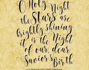 "SVG, & PNG - ""O Holy Night"""