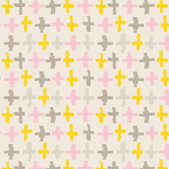 Changing Pad Cover >> Wonderful Things Joy Crossroads in Yellow >> Made-to-Order yellow changing pad, plus changing pad, blush change pad