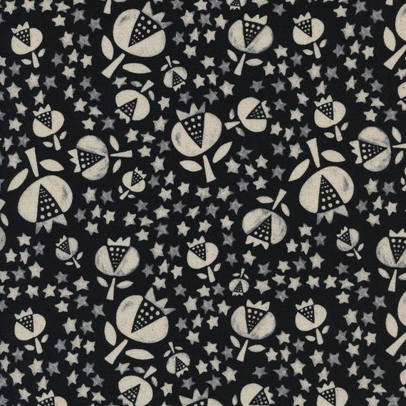 Boppy Cover - 'Flower Shop' Thistle in Black - MADE-to-ORDER