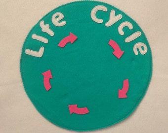 Life cycle felt mat/ Montessori activity/felt board story