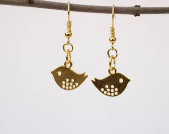 Sweet earrings with Tweetie bird in gold