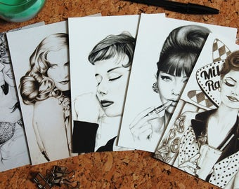 Vintage & Retro Fashion Postcard Set