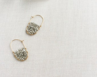 Raw Diamond Hoop Earring - Raw Diamond Earrings - Gold Diamond Hoop Earrings - Diamond Hoops - Raw Diamond Jewelry - Raw Diamond