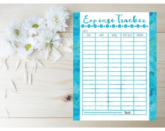 Expense Tracker - Home Budget Planner PDF - Expenses Planner - Daily Planner 2017 - Planner Inserts - Finance Planner -  Printable Planner