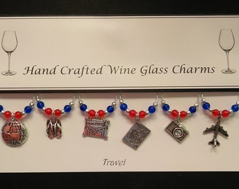 Travel Set of Wine Glass Charms