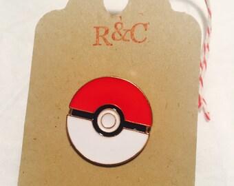 Pokemon lapel pin - gotta catch em all kawaii badge soft enamel