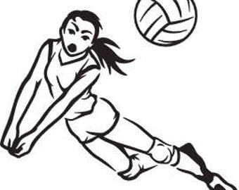 Volleyball Dive SVG FILE
