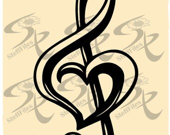 TREBLE, CLEF, HEART, Music Vector Love, clipart, Valentines ,Vector,svg,dxf,ai, png, eps, jpg,Download files, Digital, graphical_0602