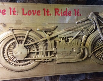 Motorcycle - Live it Live it Ride it Customizable Sign