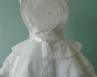 Bridal Vintage Style Apron with 3 tiers.